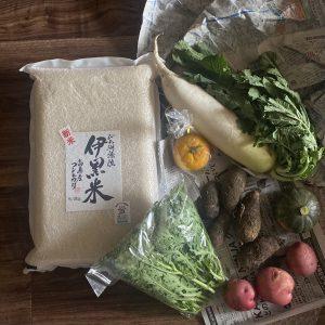 滋賀県高島産コシヒカリ・伊黒米とおまけの野菜